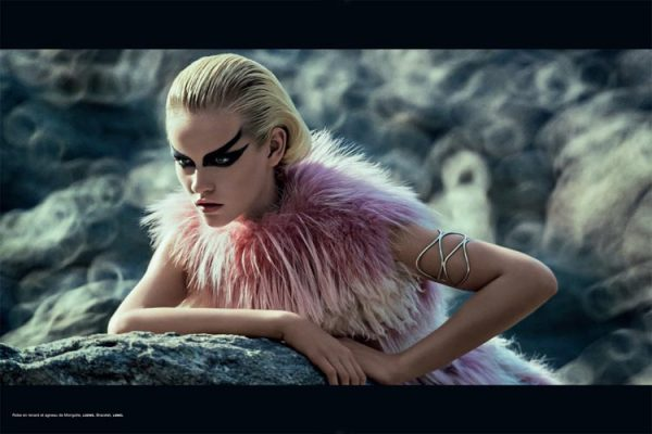 Ginta Lapina is a Space Traveler for Numéro #137 by Sebastian KIm