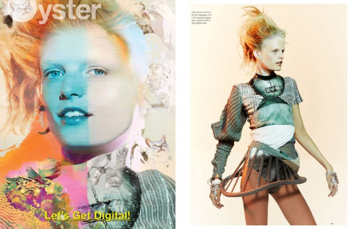 Hanne Gaby Odiele Gets Digital for the Cover Shoot of Oyster #101 by Will Davidson