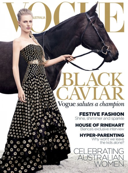Julia Nobis is an Equestrian Beauty for Vogue Australia's December 2012 Cover