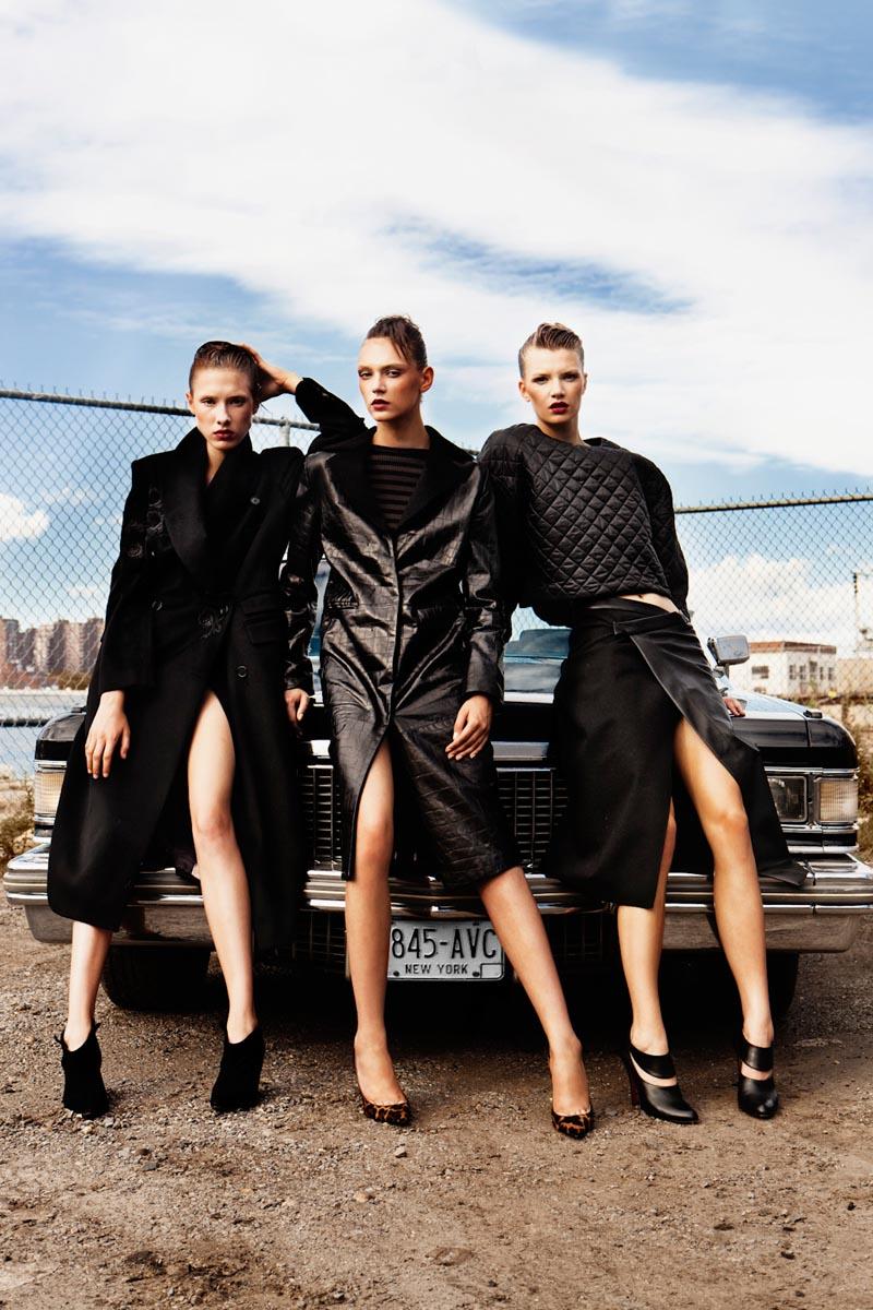 Alexander Neumann Lenses Sleek Leather Style for Tank Fall 2012