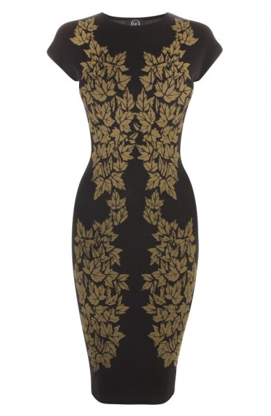 New Arrivals: McQ by Alexander McQueen Leaf Print Jacquard Dress