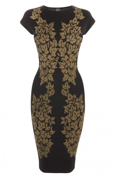 New Arrivals: McQ by Alexander McQueen Leaf Print Jacquard Dress