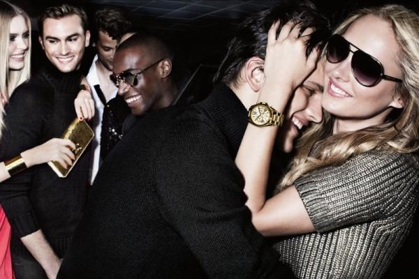 Karmen Pedaru and Shu Pei Love the Night Life for Michael Kors' Holiday 2012 Campaign by Mario Testino