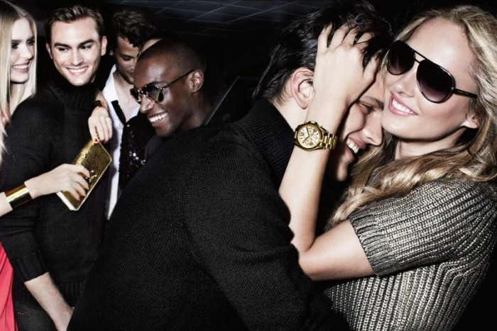 Karmen Pedaru and Shu Pei Love the Night Life for Michael Kors' Holiday 2012 Campaign by Mario Testino