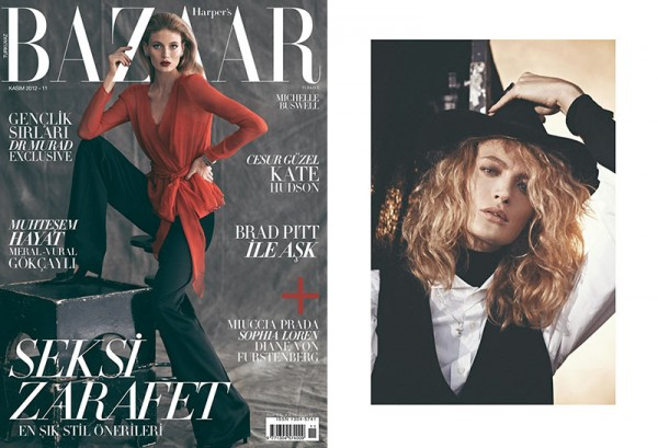 Michelle Buswell Poses for Koray Birand in Harper's Bazaar Turkey's November 2012 Cover Shoot