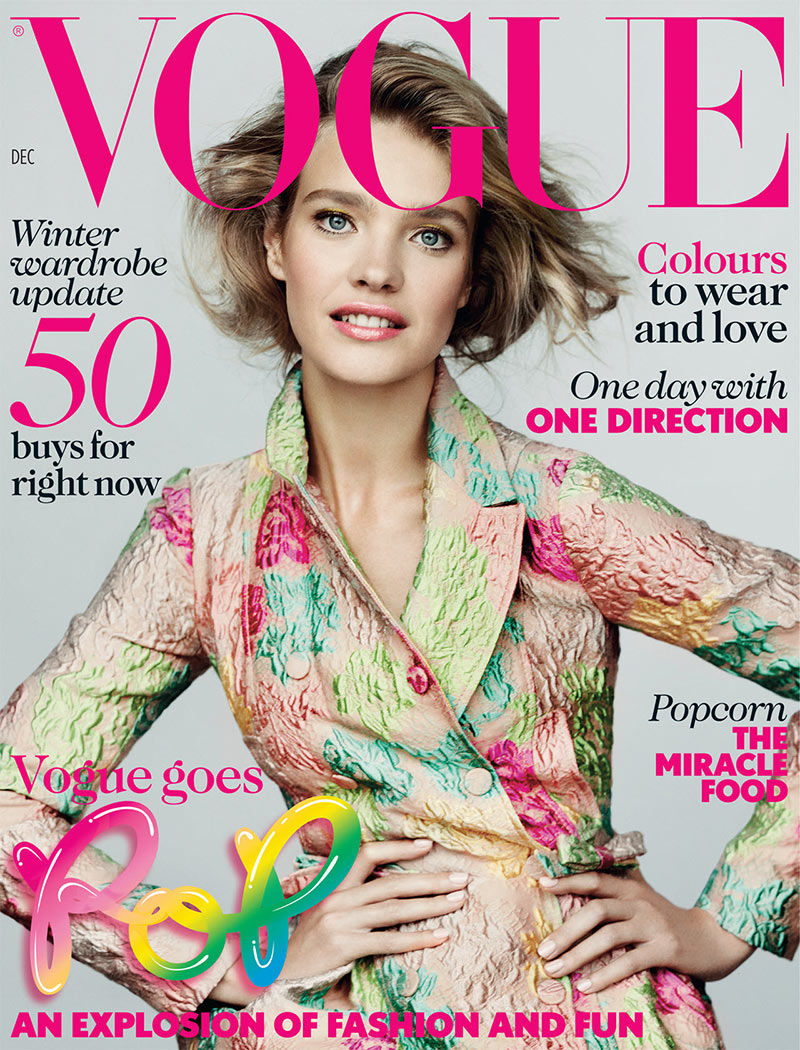 Natalia Vodianova Graces the December 2012 Cover of Vogue UK