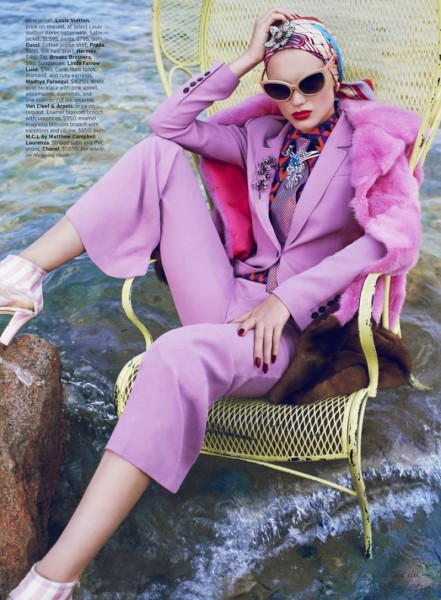 Naty Chabanenko Luxuriates in Eccentric Style for Thomas Whiteside's Elle US Shoot
