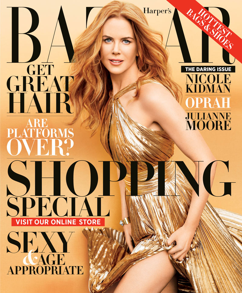 Nicole Kidman is Golden in Emilio Pucci for Harper's Bazaar US' November 2012 Cover