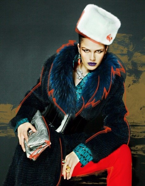 Nikolay Biryukov Captures Illustrative Style for Interview Russia's November Issue