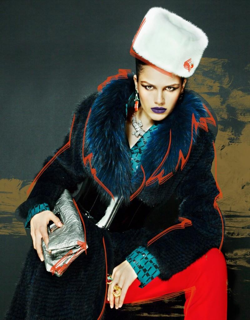 Nikolay Biryukov Captures Illustrative Style for Interview Russia's November Issue