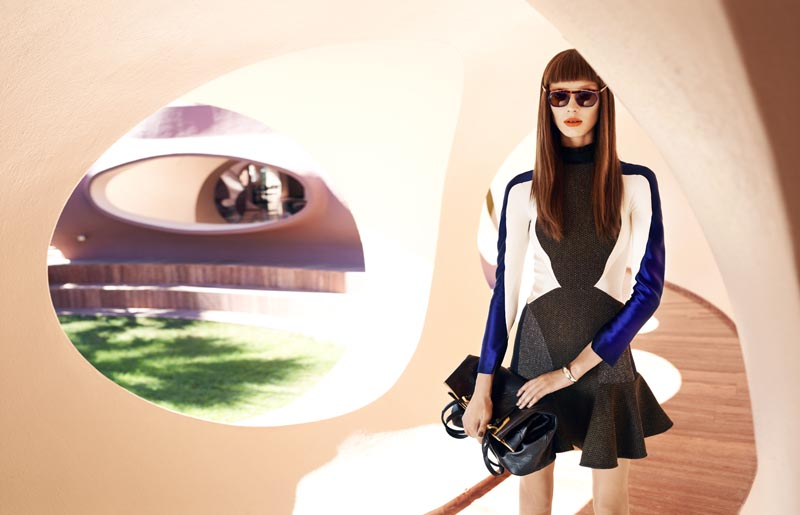 Olga Sherer Sports Neo-Mod Style for Elle France, Lensed by Marcin Tyszka