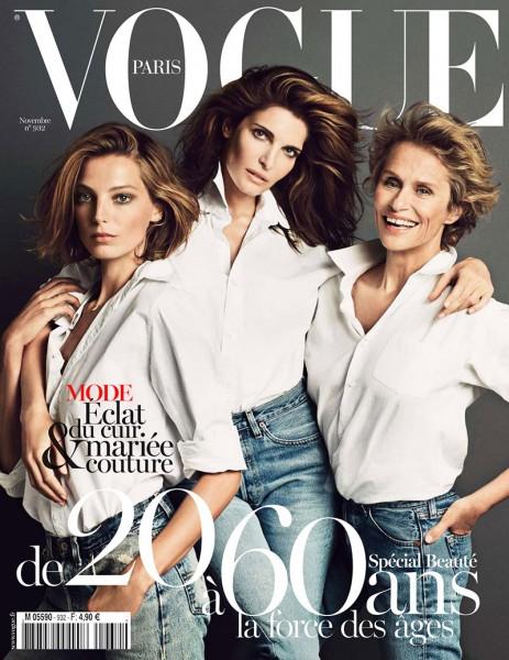Daria Werbowy, Stephanie Seymour and Lauren Hutton Grace Vogue Paris' November 2012 Cover