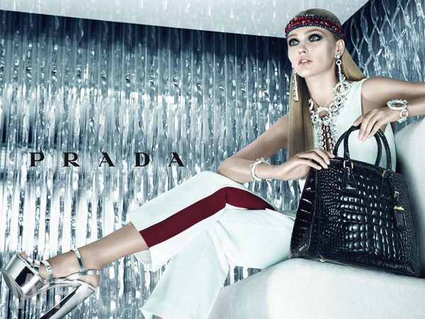 Sasha Pivovarova Makes Her Return to Prada for its Resort 2013 Campaign by Steven Meisel
