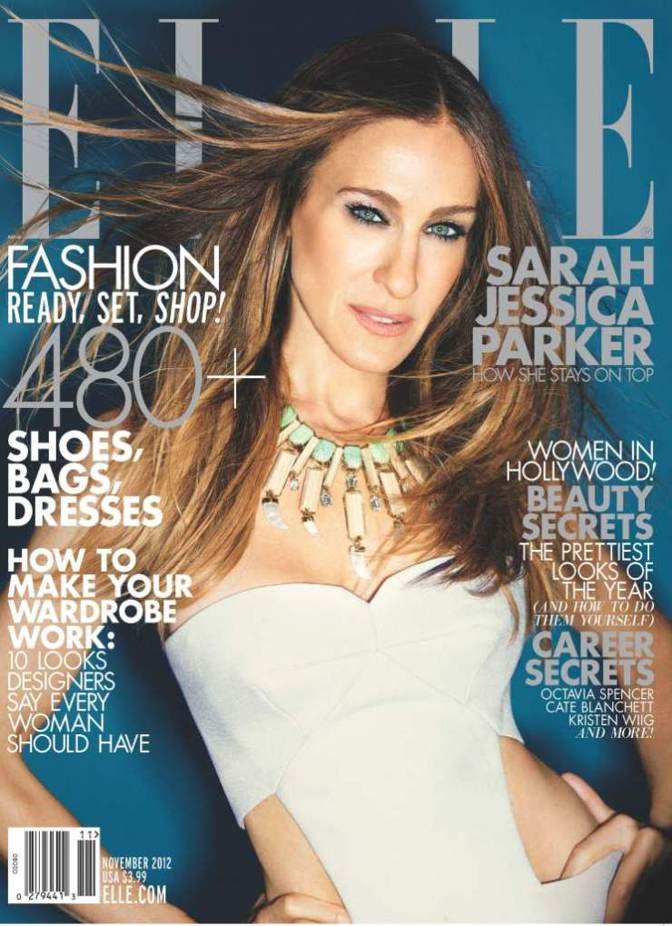 Sarah Jessica Parker Covers the November 2012 Issue of Elle US