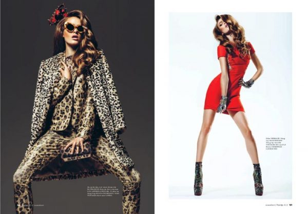 Sophie Vlaming Rocks Alluring Looks for Elle Vietnam October 2012