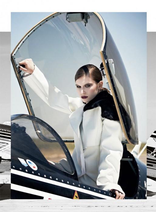 Tali Lennox Takes Flight for S Moda's October 2012 Cover Shoot