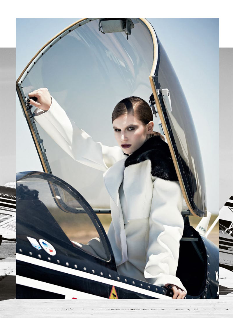 Tali Lennox Takes Flight for S Moda's October 2012 Cover Shoot