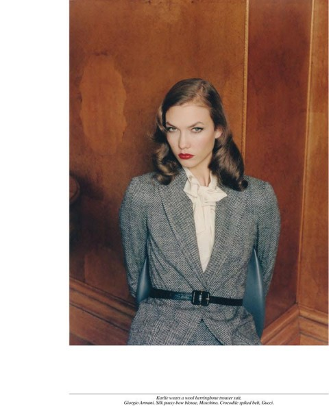 Karlie Kloss, Daphne Groeneveld, Hilary Rhoda and Constance Jablonski Seduce the Office in Venetia Scott's Self Service Shoot