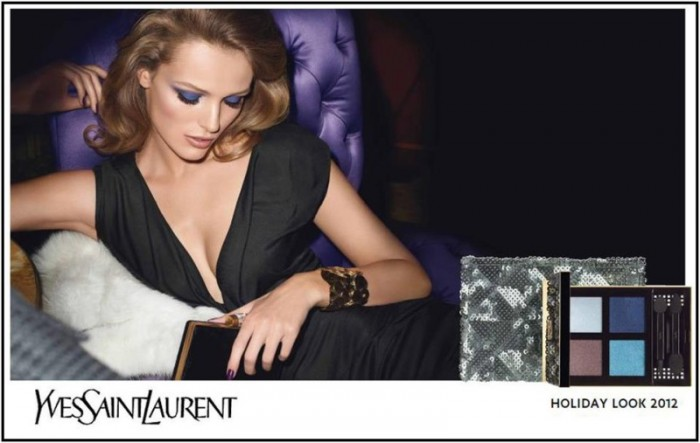 Edita Vilkeviciute Fronts Yves Saint Laurent's Holiday 2012 Campaign