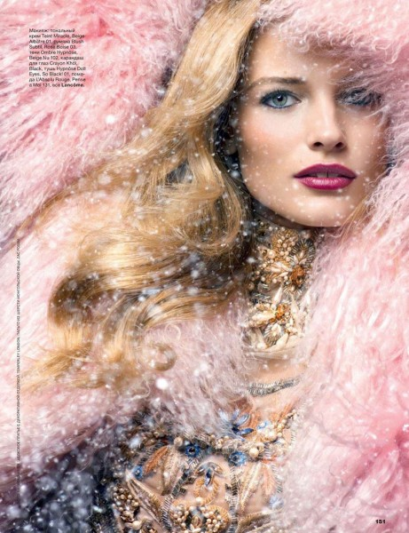 Edita Vilkeviciute is a Winter Beauty for Allure Russia's December 2012 Cover Shoot by Raymond Meier