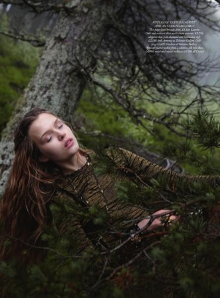 Josephine Skriver Gets Enchanted for Harper's Bazaar UK December 2012 by Yelena Yemchuk