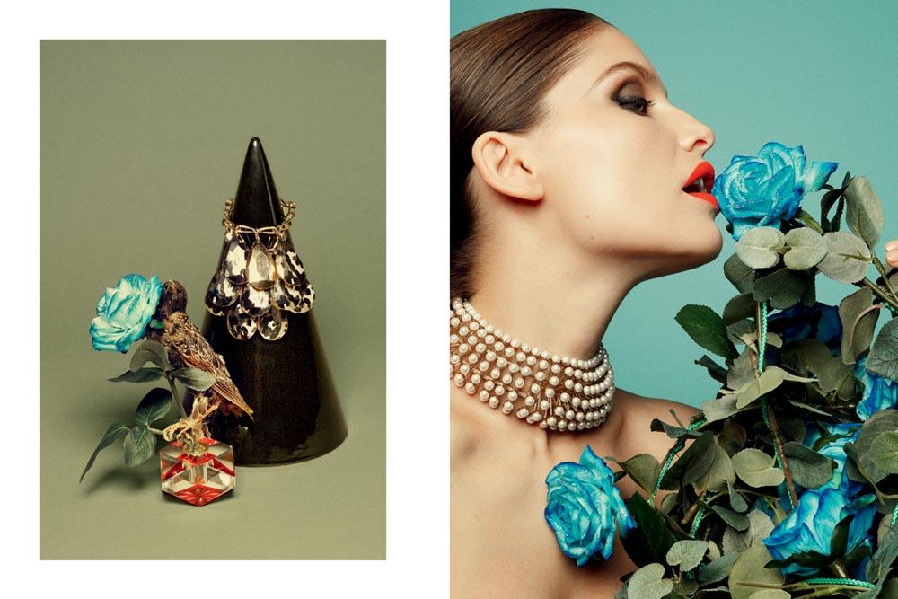 Laetitia Casta Charms in Dior for Yelena Yemchuk's Tar Magazine Shoot