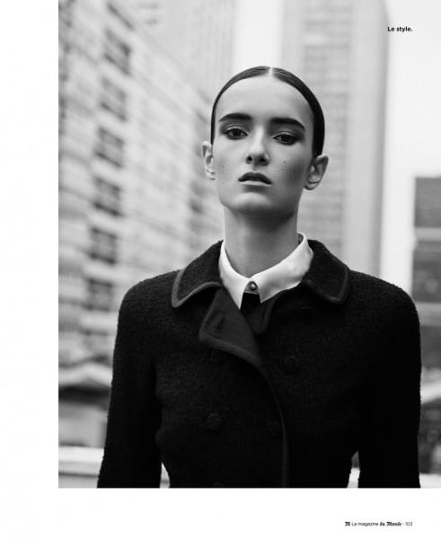 Maja Milosavljevic Wears Black and White Style for Ward Ivan Rafik's M le Monde Shoot