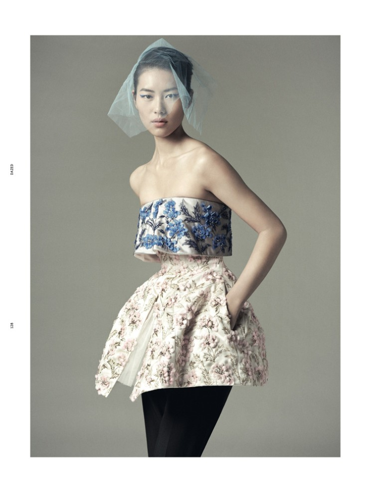 Liu Wen Goes from Day to Couture for Dazed & Confused's December Issue