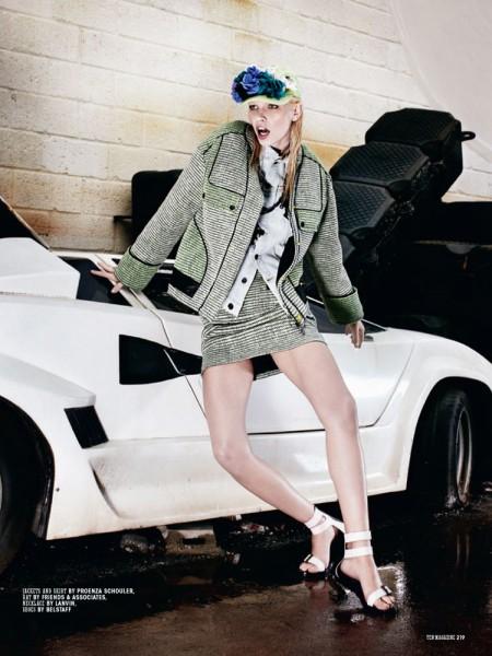 Aline Weber is Car Crazy for 10 Magazine by Christian Anwander