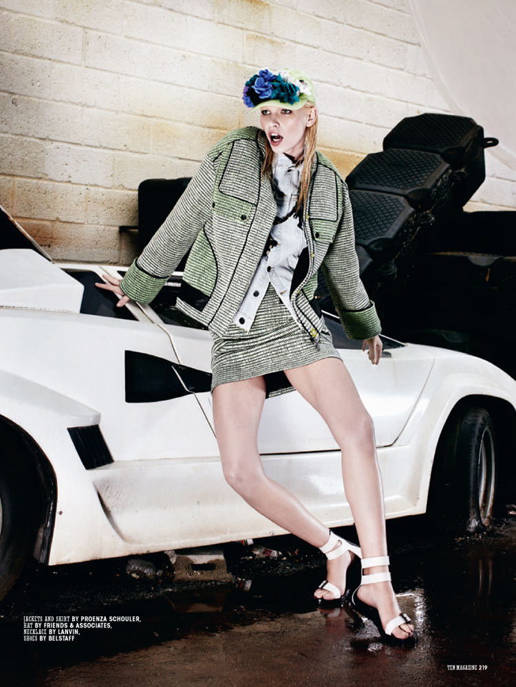 Aline Weber is Car Crazy for 10 Magazine by Christian Anwander