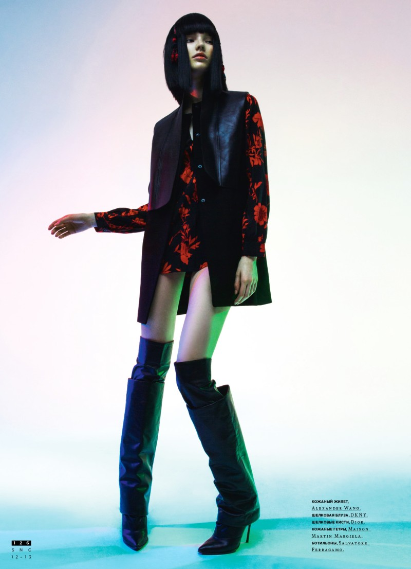 Sasha Luss Models Eastern Style for Nikolay Burykov's SnC Magazine Shoot