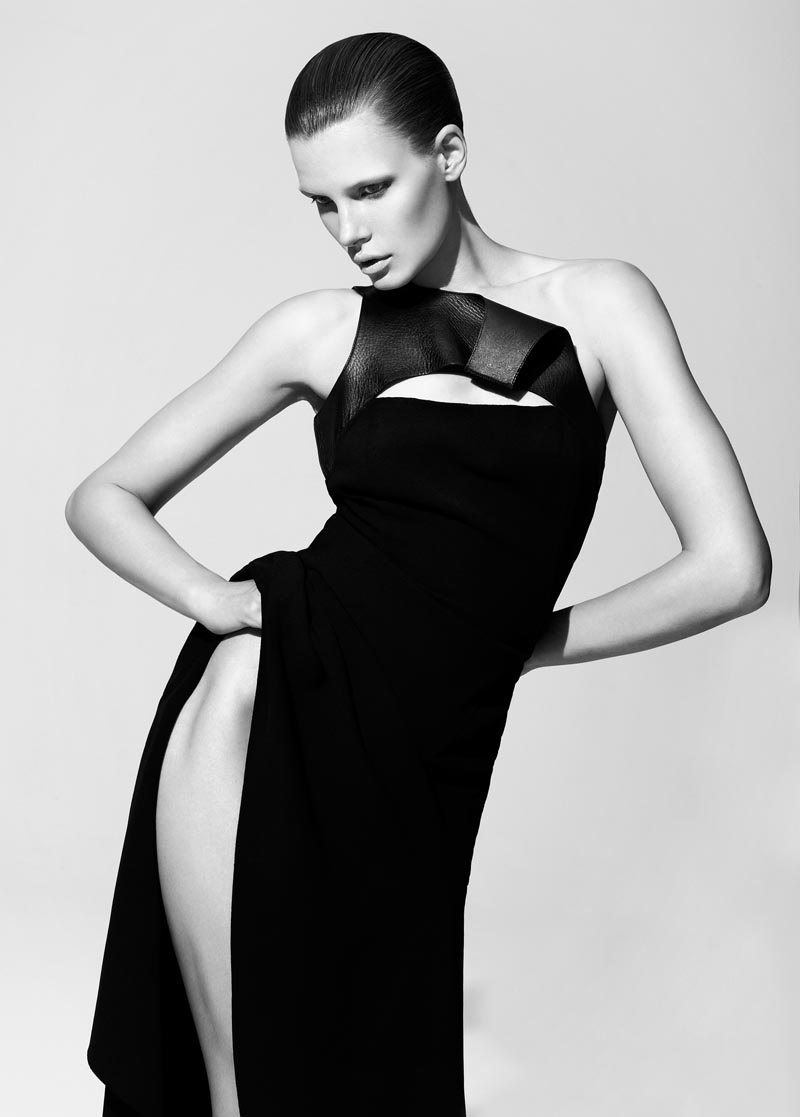 Bekah Jenkins is Sleek and Sensual in Black for Bambi Magazine by Malina Corpadean