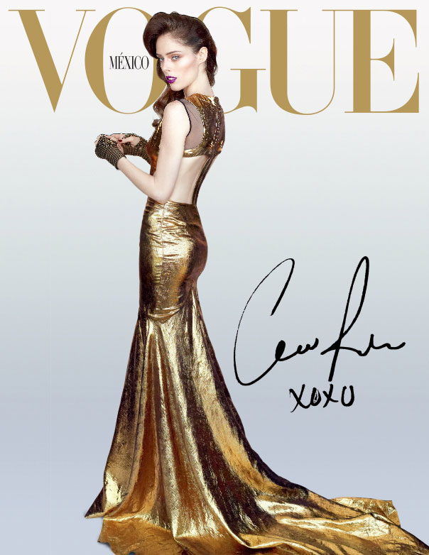 Coco Rocha Goes for the Gold on Vogue Mexico's December 2012 Cover