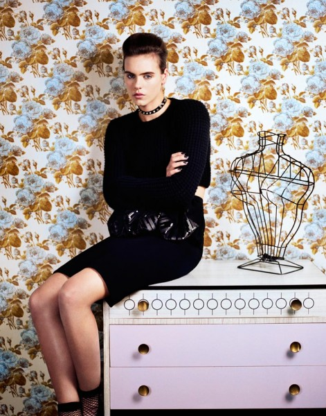 Corinna Ingenleuf Dons Rebellious Style for Mark Kean's Sleek Shoot