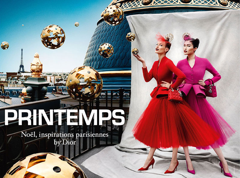 Carolyn Murphy and Sui He Star in Dior for Printemps Holiday 2012 Campaign by Mario Testino