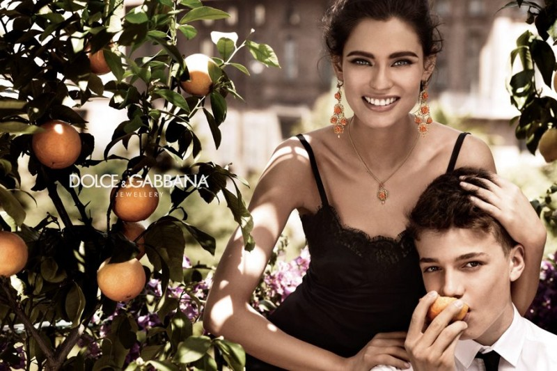 Bianca Balti Stars in the Dolce & Gabbana Jewelry 2012 Campaign by Giampaolo Sgura