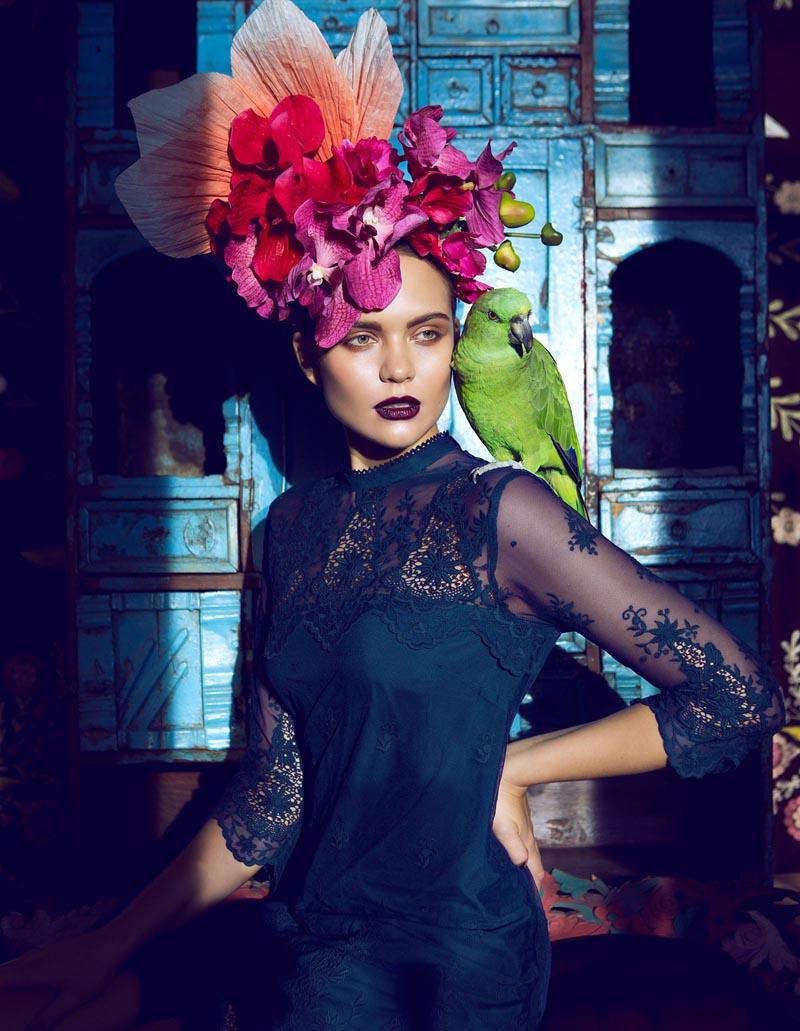 Åsa Engström Evokes Frida Kahlo in DV Mode by Fredrik Wannerstedt