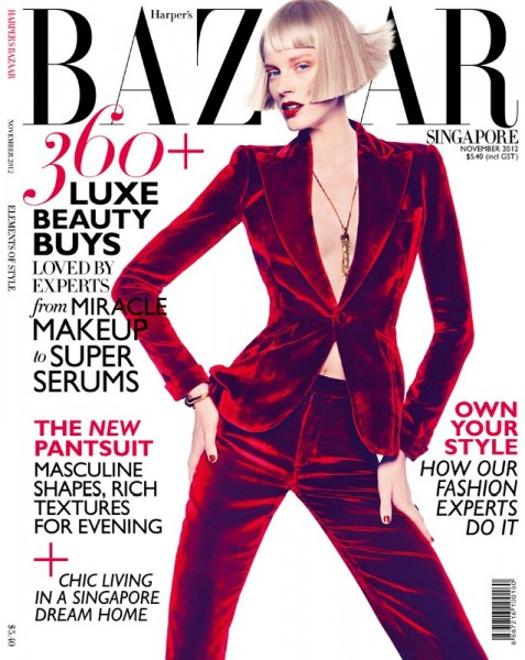 Gan Shoots the November 2012 Cover of Harper's Bazaar Singapore