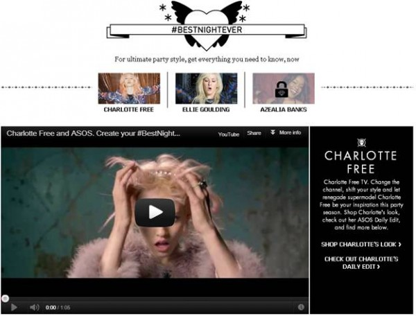 Sponsored Video: Charlotte Free Models the ASOS Christmas Collection