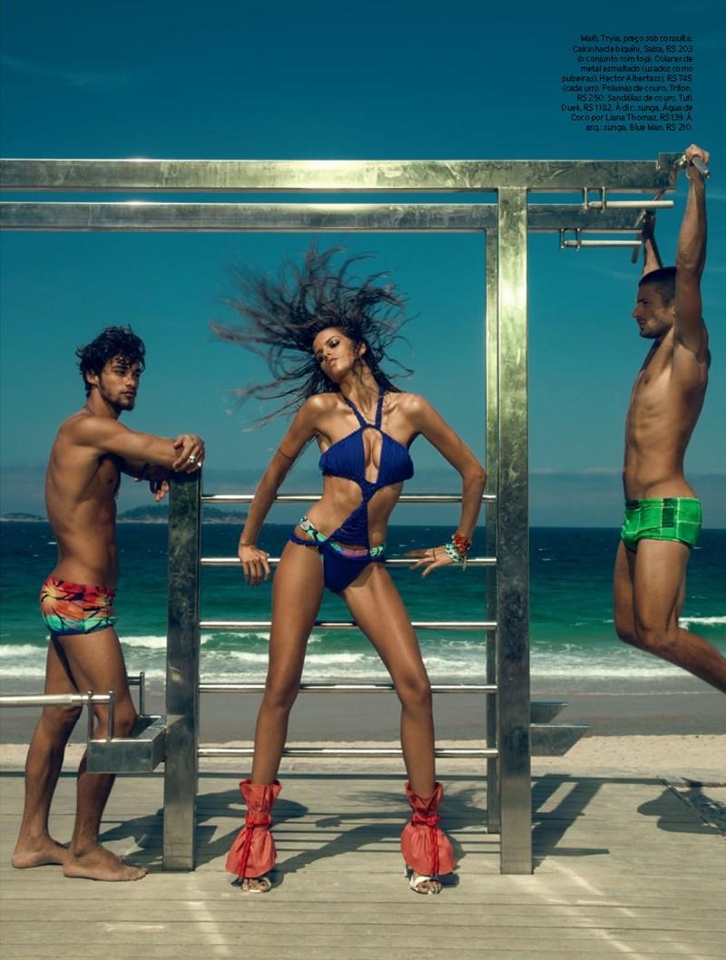 Izabel Goulart Rocks Sexy Beachwear Looks for Elle Brazil
