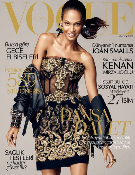 Joan Smalls Dons Dolce & Gabbana for Vogue Turkey's December 2012 Cover
