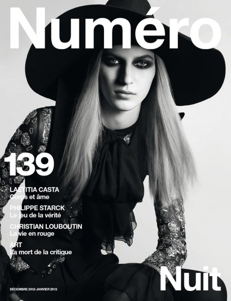 Julia Nobis is Bewitching in Saint Laurent for the Cover of Numéro #139