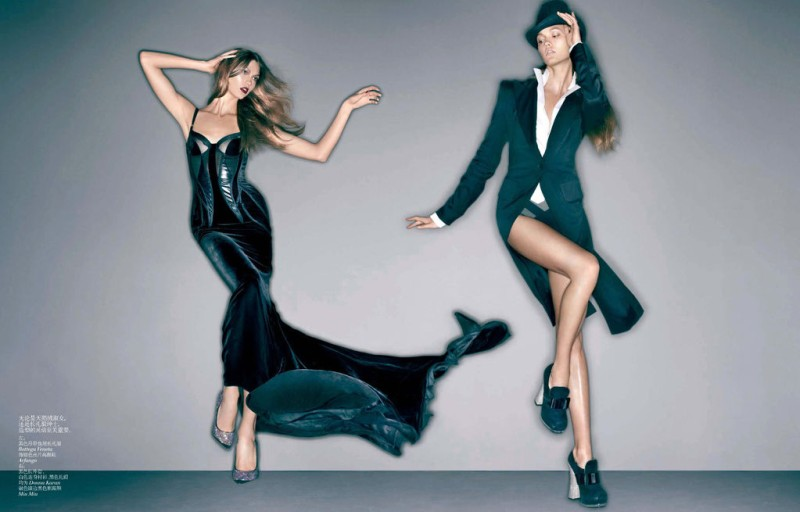 Karlie Kloss Evokes Dapper Elegance for Vogue China December 2012, Lensed by Sølve Sundsbø