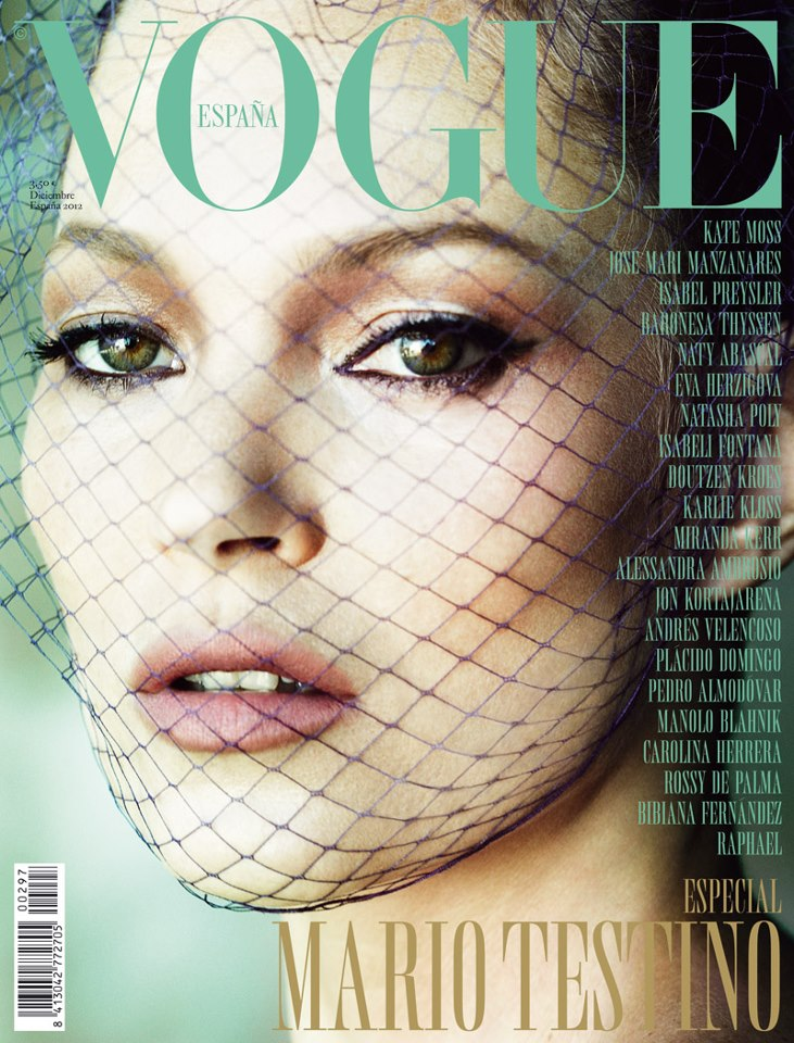 Kate Moss Graces the December 2012 Cover of Vogue Spain