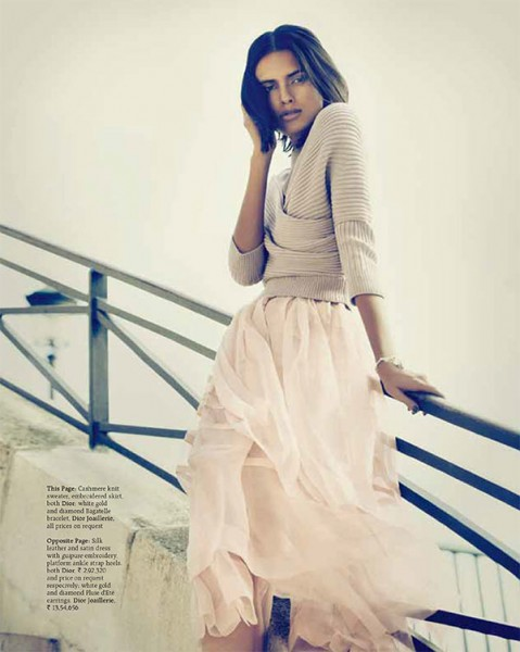 Lakshmi Menon Takes on Paris in Dior for Grazia India's October 2012 Cover Shoot