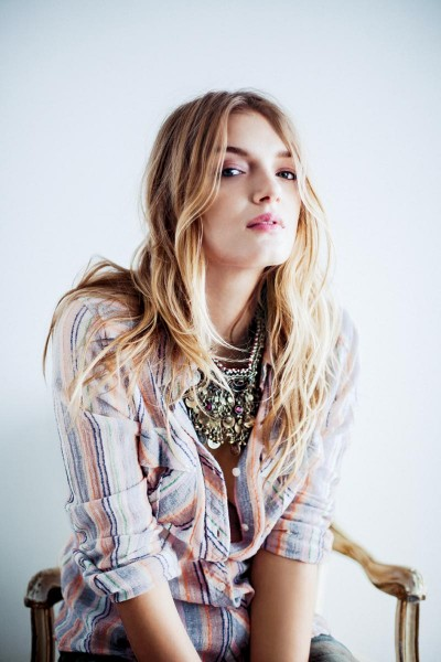 Lily Donaldson Poses for Free People's December Catalogue
