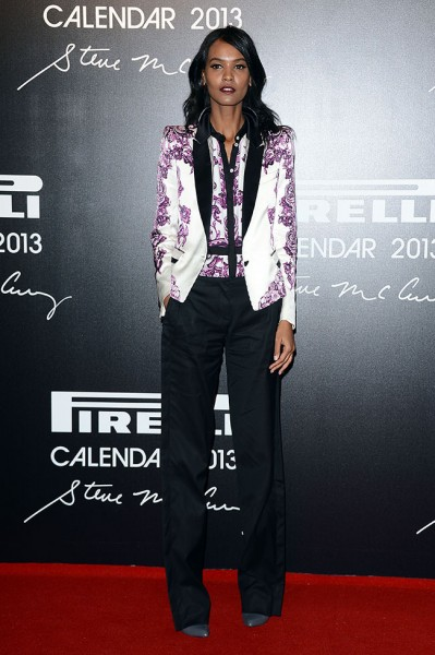 Liya Kebede in Roberto Cavalli at the 2013 Pirelli Calendar Unveiling