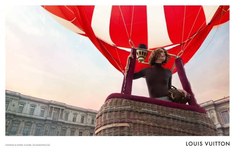 "Arizona Muse Takes Flight for Louis Vuitton's ""L'invitation au Voyage"" Campaign by Inez & Vinoodh"