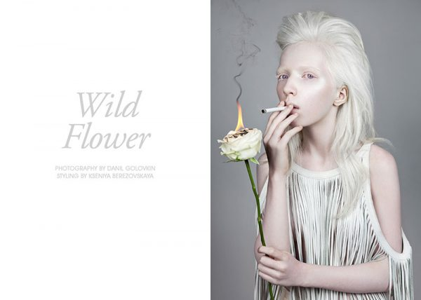 "Nastya Zhidkova by Danil Golovkin in ""Wild Flower"" for Fashion Gone Rogue"