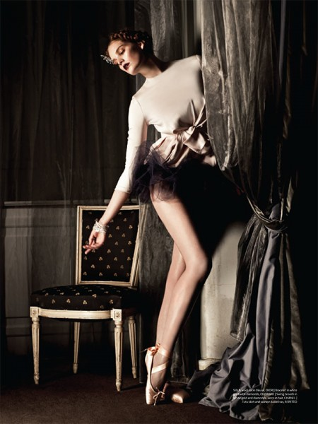 Alexina Graham is On Pointe for Sy Delorme in Mojeh Magazine